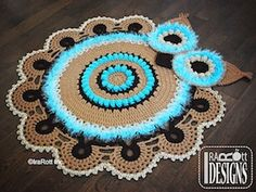Retro Owl Rug or Doily Rug Nursery Mat - $6.50 (CAD) by Ira Rott / Owls Part 3 - Animal Crochet Pattern Round Up - Rebeckah's Treasures