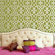 Wall Stencil | Chez Sheik Moroccan Stencil | Royal Design Studio    Not quite Imperial Trellis but close