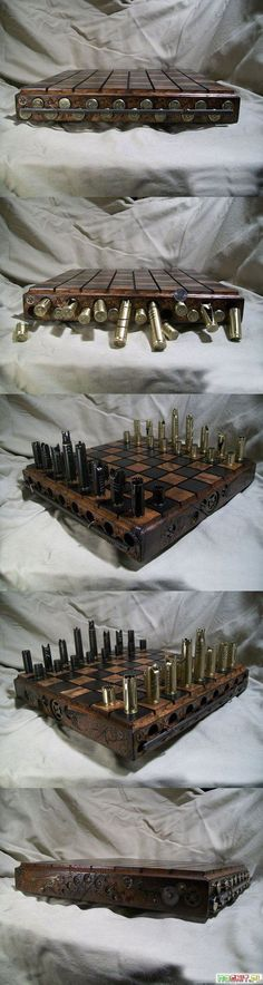 Funny pictures about A Clever Set Of Chess Made Out Of Bullets. Oh, and cool pics about A Clever Set Of Chess Made Out Of Bullets. Also, A Clever Set Of Chess Made Out Of Bullets photos. Bullet Crafts, Bullet Casing Crafts, Cool Gadgets, Pretty Cool, Metal Art, Board Games, Cool Stuff, Stuff To Buy, Man Stuff