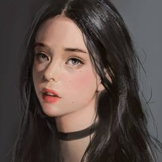 how to draw people Female Portrait, Portrait Art, Female Art, Digital Art Girl, Digital Portrait, Kawaii Anime Girl, Anime Art Girl, Fille Anime Cool, Deviant Art