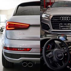 The awesome little launched here last year. People love our compact SUV that hits a great price point but is most definitely still an - Color: Florett Silver / Prestige Audi Dealership, Luxury Car Dealership, My Dream Car, Dream Cars, Compact Suv, Suv Cars, Audi Q3, Car Shop, Luxury Cars