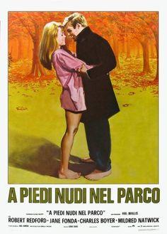 Rare vintage Italian film poster for. * Robert Redford and Jane Fonda * .in 'Barefoot in the Park' Barefoot In The Park, Cool Posters, Movie Posters, Cinema Posters, Robert Redford, Love Film, Poster Prints, Art Prints, Jane Fonda