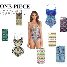 """""""One-Piece Swimsuit"""" tribal Polyvore"""