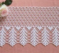 Beau Crochet, Crochet Diy, Crochet Round, Crochet Chart, Cotton Crochet, Crochet Curtain Pattern, Crochet Curtains, Crochet Tablecloth, Crochet Boarders