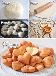 10 Minute Fat-Free Dough Fries Recipe How To- 10 Dakikada Yağ Çekmeyen Hamur Good Food, Yummy Food, Chips Recipe, Turkish Recipes, Snacks, Dough Recipe, Recipe Recipe, Food Presentation, Food Design
