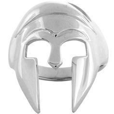 Inox Jewelry Men's 316L Stainless Steel Spartan Helmet Shaped Ring | Body Candy Body Jewelry