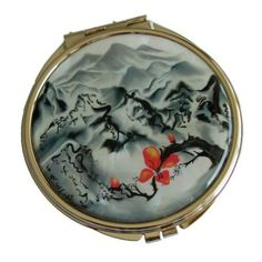 "Amazon.com: Pocket, Compact Mirror From Korea Handcraftted with Colorfull Mother of Pearl Inlays, Good Quality, Authentic Design - Mountains and Rivers ""Sansudo"": Office Products"