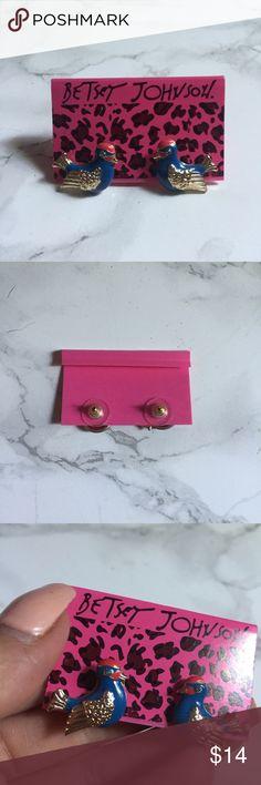 Betsey Johnson Sparrow Bird Earrings Punk Rock Super cute. No defects, new. Smoke free pet friendly home. Betsey Johnson Jewelry Earrings