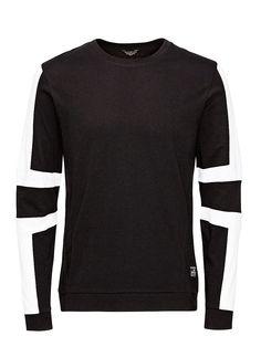 CORE by JACK & JONES - Langärmeliges T-Shirt von CORE - Slim fit - Rundhalsausschnitt - Bündchen und Saum sind gerippt - Farbabgrenzungsdetails an den Ärmeln - Beachte: Die spezielle Stoffzusammensetzung für das graue T-Shirt besteht aus 65 % Polyester und 35 % Baumwolle - Das Modell trägt Größe L und ist 187 cm groß 100% Baumwolle...