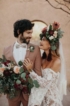 This Wedding Inspiration at San Xavier del Bac is The Epitome of Southwestern Chic This styled shoot features bohemian inspiration at San Xavier Mission, a historic chapel in the Arizona desert with editorial gowns and bridal hats Wedding Dress Organza, Elegant Wedding Dress, Wedding Dresses, Modest Wedding, Lace Dress, Bridal Hat, Junior Bridesmaid Dresses, Wedding Photo Inspiration, Wedding Shoot