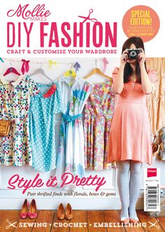The new Mollie Makes DIY Fashion special is available now. Craft and customise your wardrobe with DIY projects and refashion inspiration Sewing Clothes, Diy Clothes, Diy Fashion, Ideias Fashion, Fashion 2014, Sewing Magazines, Free Magazines, Mollie Makes, Fashion Templates