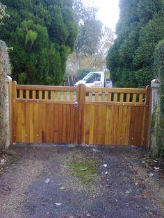 Wooden Gates -Iroko Hentons  www.crockettsgates.co.uk