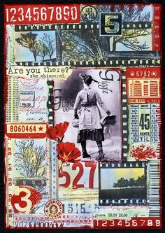 Colorful Adventures journal page #collage #grid