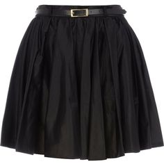 River Island Black full skater skirt (4.205 HUF) ❤ liked on Polyvore featuring skirts, saias, bottoms, black, gonne, black flared skirt, black knee length skirt, cotton skirt, black skater skirt and skater skirt