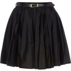 River Island Black full skater skirt (4.205 HUF) ❤ liked on Polyvore featuring skirts, saias, bottoms, black, gonne, black flared skirt, black knee length skirt, cotton skirt, black skater skirt and skater skirt