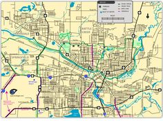 Map of Battle Creek Trails and Bike Routes