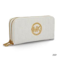 MICHAEL Michael Kors Double Zipper Wallet White