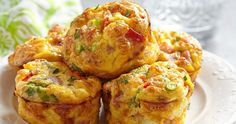 Low Carb Muffins: Spicy ham and cheese protein bombs- Low Carb Muffins: Würzige Schinken-Käse-Eiweißbomben Muffins do not have to be sugar-rich calorie bombs: These low carb muffins score extra extra protein and are quick and easy to make. Egg Recipes, Brunch Recipes, Breakfast Recipes, Cooking Recipes, Breakfast Ideas, Liver Recipes, Sauce Recipes, Vegetable Omelette Recipes, Spinach And Cheese