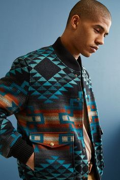 Shop Pendleton Gorge Wool Bomber Jacket at Urban Outfitters today. Pendleton Coat, Burberry Men, Gucci Men, Wool Bomber Jacket, Moda Casual, Men's Coats And Jackets, Sharp Dressed Man, Native American Fashion, Mode Style