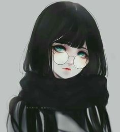 glasses gothic anime girl silver hair - Results For Yahoo Image Search Results Manga Girl, Emo Anime Girl, 5 Anime, Chica Anime Manga, Anime Love, Dark Anime Girl, Blue Anime, Animes Emo, Fanarts Anime