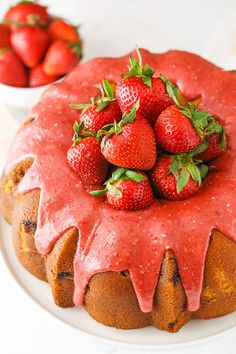 This Strawberry Pound Cake is dense, but so moist, with wonderful pops of fresh strawberries and a delicious strawberry icing! It's a great dessert for summer! So this past weekend, we were dog sitting for a friend. The dog was some sort of lab mix that they adopted. He's similar in height to Jessie, but …