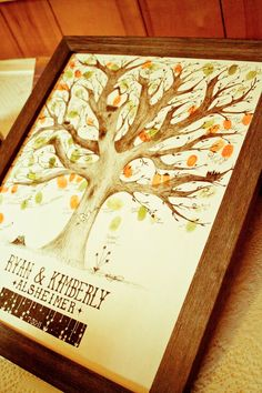 fingerprint tree for the guest book