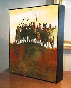 Native American Art Crow Indians Canvas Print On by DonshanArt, $39.99