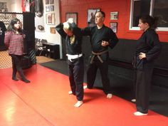 Sensei Christina and Brown Belt Scotty teaching the women some hair pulling Self Defenses! #ketsugo #martialarts #karate #judo #jiujitsu #aikido #shorinryu #selfdefense #womens #hairpull #mma #campbells #kickboxing #copiague