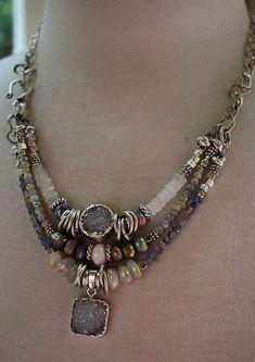 Blue Necklace Orange Necklace Gift under 10.00 Black Necklace Hippie Necklace Boho Necklace Red Necklace