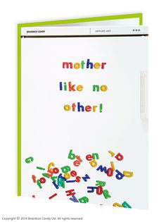 brainboxcandy.com - Mother Like No Other Card, £2.50 (http://www.brainboxcandy.com/mother-like-no-other-card/)