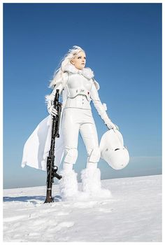 """omegamanlegend: """" The Battle Of Hoth from my favorite episode of the Star Wars saga The Empire Strikes Back The All Terrain Armored Transport (AT-AT) Walker. Besides an Imperial Star Destroyer,. Star Wars Rpg, Star Trek, Reina Amidala, Disfraz Star Wars, Armadura Cosplay, Images Star Wars, Female Armor, Star Wars Girls, Darth Vader"""