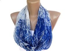 infinity loop women chiffon scarf , fashion accessories for spring summer , trendy scarf. $15.00, via Etsy.