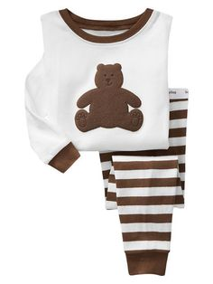 Children autumn -summer Sprots Clothing Sets Kids Boys Baby Bear Animal Pajamas Sleepwear Outfits Tops Pants Sets T Toddler Boy Outfits, Baby Kids Clothes, Kids Outfits, Baby Outfits, Little Boy Fashion, Kids Fashion, Bear Slippers, Animal Pajamas, Cute Pjs