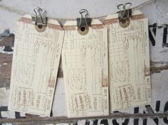 Wishing Tree Tags Guest Book Alternative Travel Vintage Shabby Set of 10