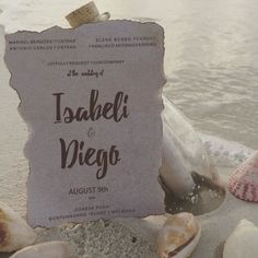 Inside #VictoriasSecret model Isabeli Fontana's #Maldives #wedding: The invitation. Image credit: Instagram/@isabelifontana #weddings #adelaideweddings #adelaideweddingplanner #weddinginvitation #beachwedding
