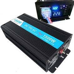 Reliable 1500w Pure Sine Wave Solar Power Inverter 12vdc to 110vac 60hz USA standard socket type * To view further for this item, visit the affiliate link Amazon.com.