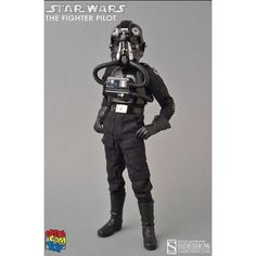 "Medicom 1:6 Star Wars TIE Fighter Pilot Black 3 ""Backstabber"" Deluxe Action Figure - £169.99"