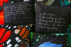 Velveteen Pillow Maya Angelou Inspirational by CallaAndClover