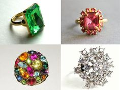 Etsy Spotlight: Sparkly Vintage Cocktail Rings