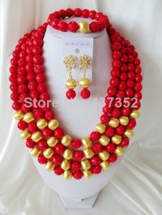 Free Shipping! 2014 Fashion Artificial Coral Beads Jewelry Set Nigerian African Wedding Beads Jewelry Set CWS-309 $98.25