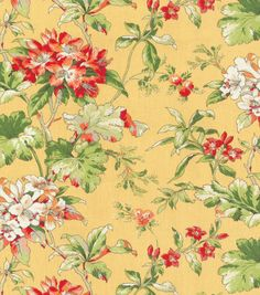 Upholstery Fabric-Waverly Fawn Hill CitrusUpholstery Fabric-Waverly Fawn Hill Citrus,