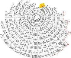 Centrini a uncinetto: schemi e modelli - Centrino conchiglia