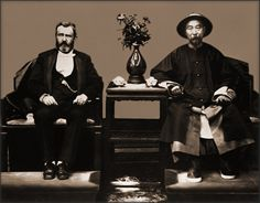 Chinese Viceroy Li Hung Chang and US President Ulysses S. Grant meeting in China, 1879