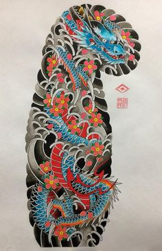 Nakita ni joan manuel badilla loyola ang pin na & Japanese Leg Tattoo, Japanese Tattoos For Men, Japanese Dragon Tattoos, Traditional Japanese Tattoos, Japanese Tattoo Designs, Japanese Sleeve Tattoos, Leg Sleeve Tattoo, Tattoo Sleeve Designs, Tattoo Oriental