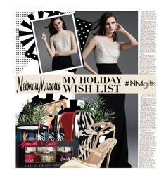 """""""The Holiday Wish List With Neiman Marcus: Contest Entry"""" by edenslove ❤ liked on Polyvore featuring Carmen Marc Valvo, Neiman Marcus, Christian Louboutin, Diptyque, Sisley Paris, Smith & Cult and Valentino"""