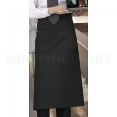 Time-tested and classic, this full bistro apron is an excellent choice for server staff. Order black, white and pinstripe bistro aprons from Chef's Closet. Uncommon Threads, Chef Apron, Sewing Aprons, Music Videos, High Waisted Skirt, Pocket, Skirts, Outfits, Clothes