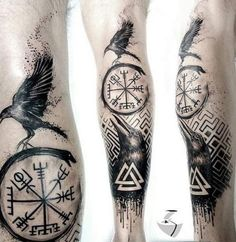 5 Ideas of Odin's Tattoos for Odin Worshippers Odin was among the most powerful and influential gods to the Vikings. There were many reasons why the Vikings worshipped Odin. In this day and age, Odin Viking Tattoo Sleeve, Viking Tattoo Symbol, Norse Tattoo, Celtic Tattoos, Tattoo Symbols, Armor Tattoo, Viking Compass Tattoo, Thai Tattoo, Maori Tattoos