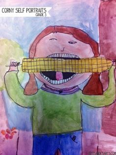 Corny portraits - grade 3