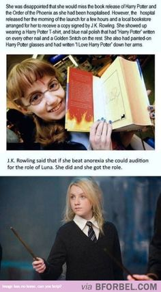 Oh my goodness this is the best thing ever. Thank you to JK Rowling for doing this for her and for everyone. This sets an example to everyone that anyone can do anything if the set their minds to it. This makes me so happy