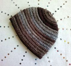 """Chestnut"" is a bulky beanie worked in the round that can be crocheted in two hours."